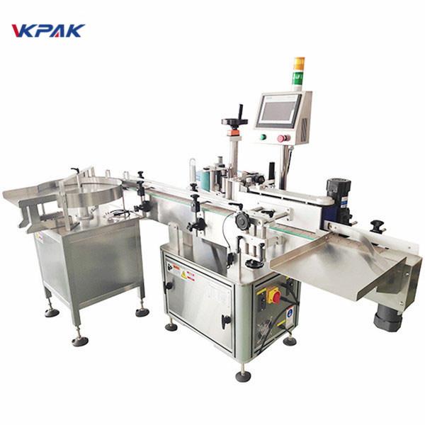 Avtomatski stroj za etiketiranje dvostranskih nalepk z gramofonom
