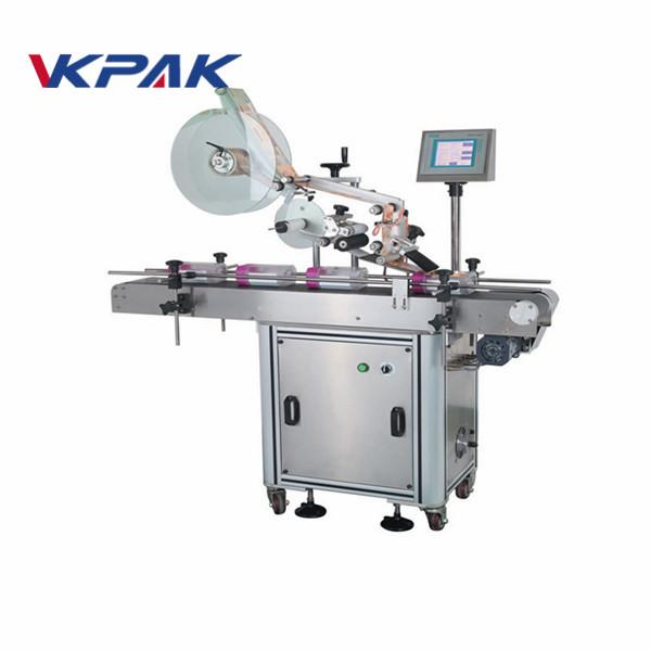 Avtomatski stroj za nanašanje etiket z ravno površino za vrečke