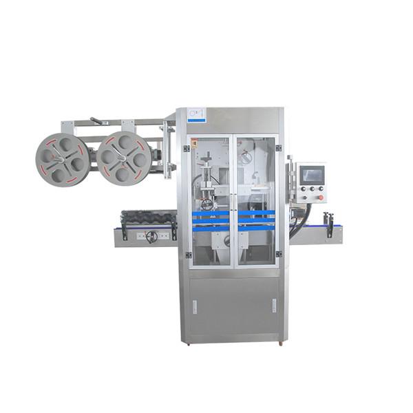 Stroj za nanašanje skrčljivih rokavov iz nerjavečega jekla s tesnilnim pokrovčkom z generatorjem pare