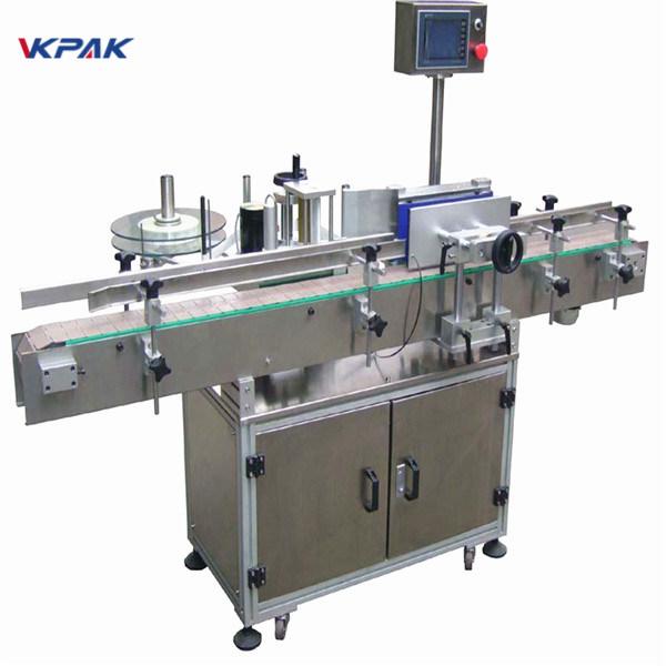 Prilagojen stroj za etiketiranje nalepk za steklenice za pivo 220 V 20 - 200 kosov na minuto