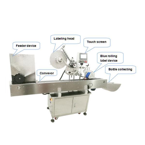 Popolnoma avtomatski stroj za nanašanje nalepk za steklenice s certifikatom CE