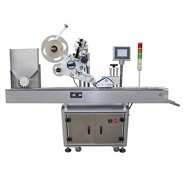 Stroj za etiketiranje nalepk na viali za farmacevtsko industrijo