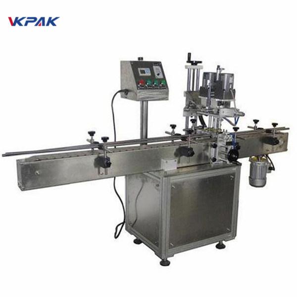 Industrijski dvostranski stroj za etiketiranje okroglih steklenic za kozmetične izdelke