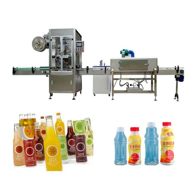 Stroj za etiketiranje skrčljivih rokavov za steklenice za hišne ljubljenčke s tušem