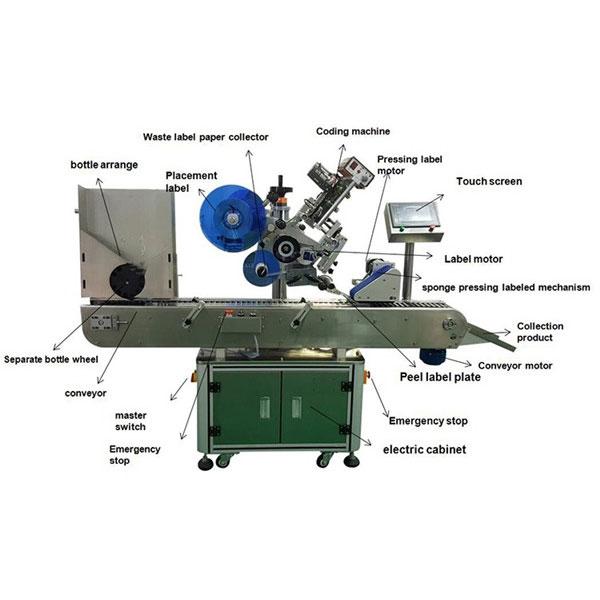 Stroj za etiketiranje farmacevtskih nalepk za viale Premer steklenic 10-30 mm