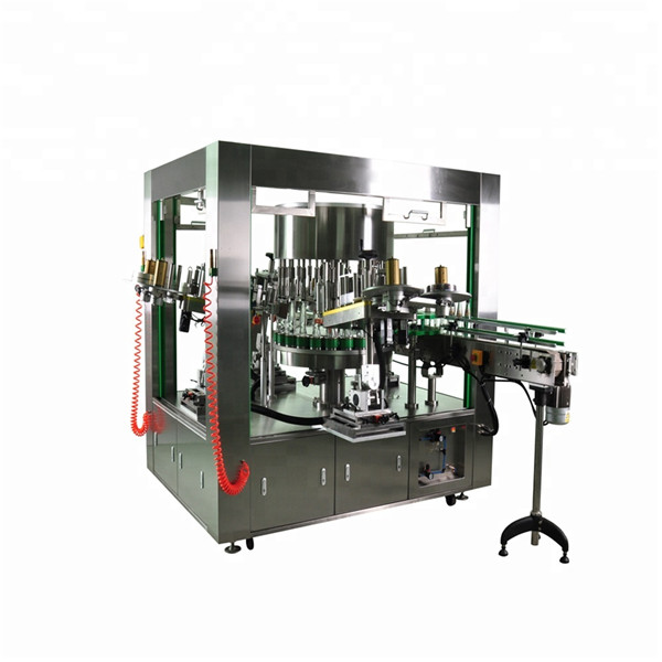 Rotacijski označevalnik okrogle steklenice s sistemom strojev za označevanje posod za vrtenje posod
