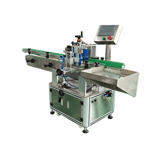 Stroj za avtomatizirano etiketiranje kvadratnih in okroglih steklenic