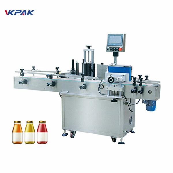 Steklenica za vino Enostranski avtomatski stroj za etiketiranje okrogle steklenice