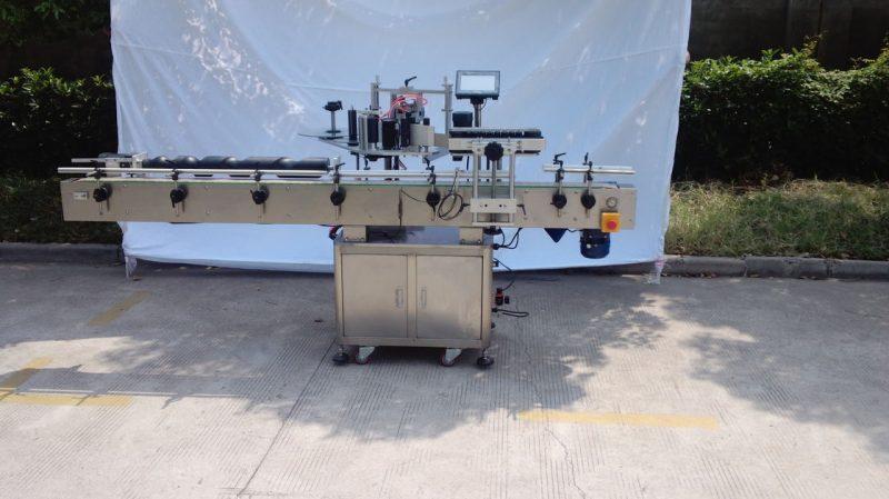 Porcelan Avtomatski stroj za etiketiranje okrogle steklenice za nesuho lepilo, leseni stroj za etiketiranje embalaže za izvoznike za dobavitelja CE