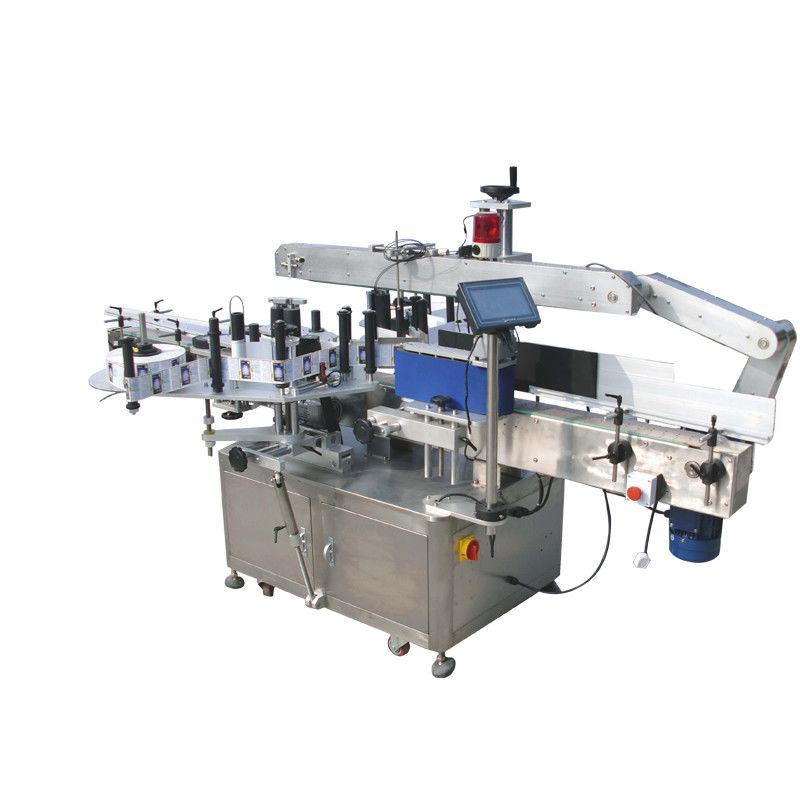 Stroj za etiketiranje dvostranskih nalepk z okroglimi steklenicami za pijače, hrano in kemikalije