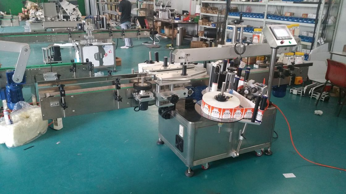 Stroj za etiketiranje dvostranskih nalepk z avtomatskim označevalnikom steklenic