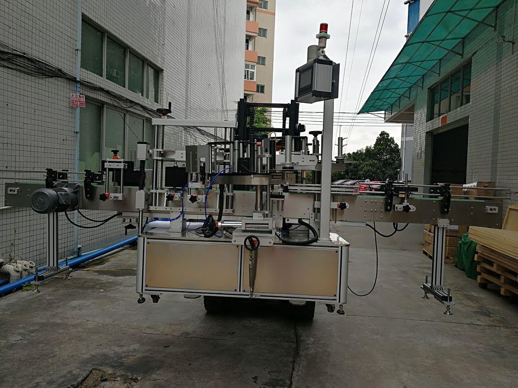 Samodejni dvostranski etiketni nalepni stroj za nalepke za plastične kozarce