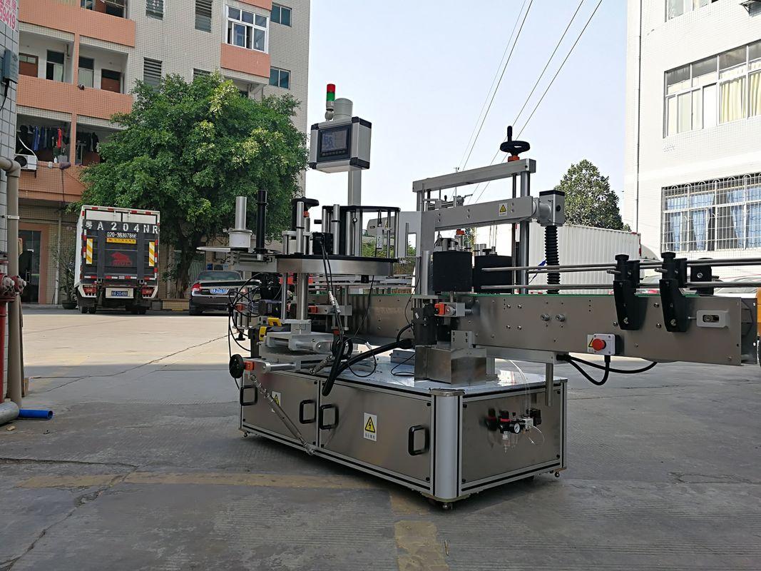 Hitri avtomatski stroj za nalepke etiket s tristranskimi steklenicami
