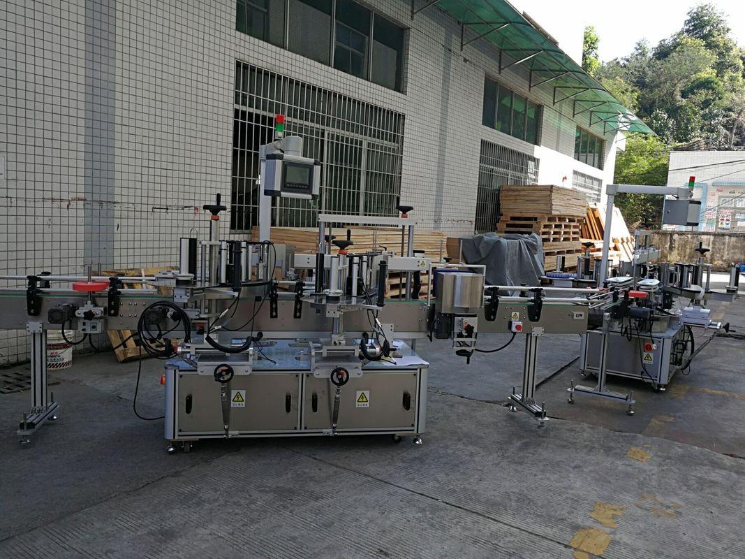 Stroj za etiketiranje nalepk s ploščatimi / kvadratnimi steklenicami, popolnoma samodejen, zmogljivost 5000-8000B / H